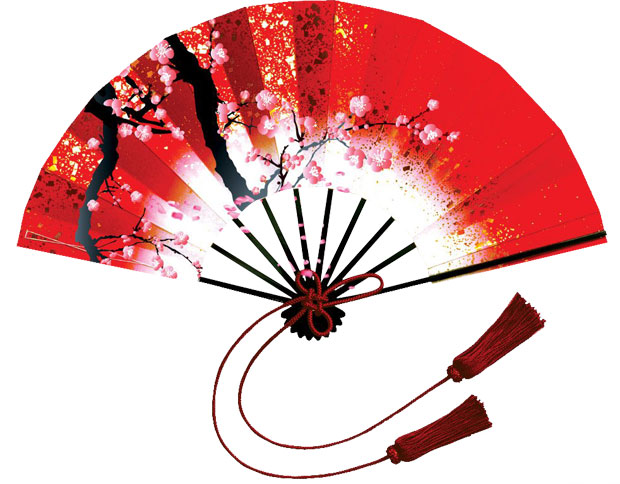Chinese fan clipart